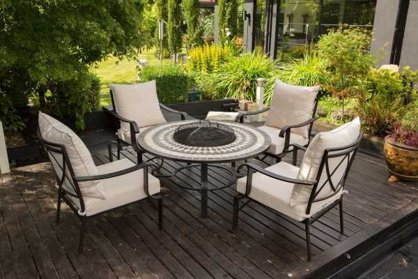 Garden Furniture Scotland Brings You Quality Garden And Patio - Teak fire pit table