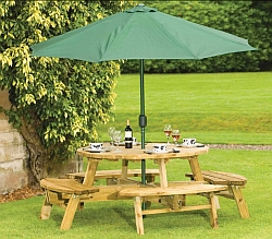 Atholl 8 Round Picnic Table