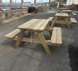 A Frame 6 Seater Picnic Table