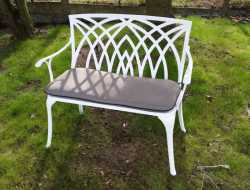 Waverley 2 Seart bench in white