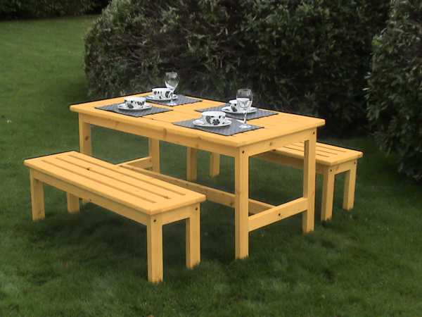 Table And Bench Set : ... low price promise atholl chunky table and 2 bench set £ 245 00