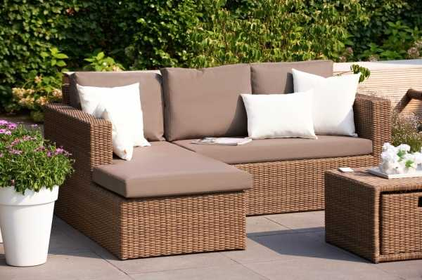 light brown with taupe cushions