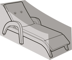 W1464 Silver Sunlounger Weathercover