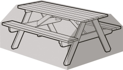 W1508 Silver Picnic Table Weathercover