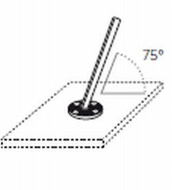 75 Degree Pole Anchor for fixing Angled Pole onto Decking