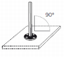 90 Degree Pole Anchor for fixing Upright Pole onto Decking