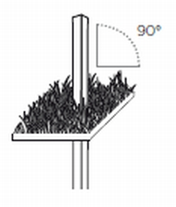 90 Degree Pole Anchor for Setting Upright Pole into Concrete