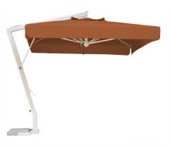 Milano Parasol with Terracotta Canopy