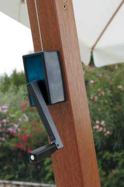 Aluminium (Iroko Wood Look) Frame Close Up